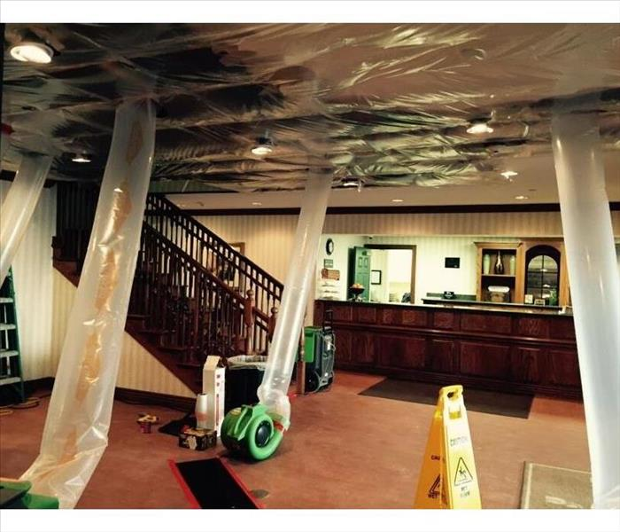 Water Damaged Ceiling in a Bentonville Hotel